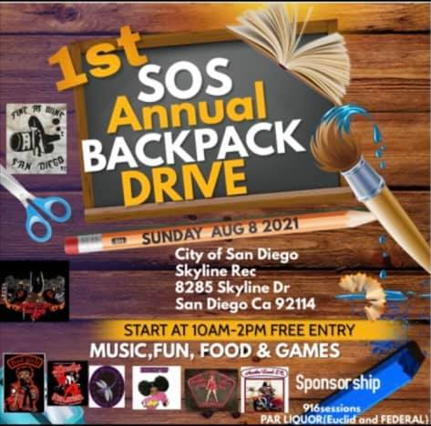 1st SOS Annual Backpack Drive
