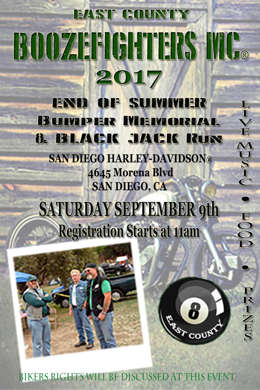 East County Boozefighters Bumper Run