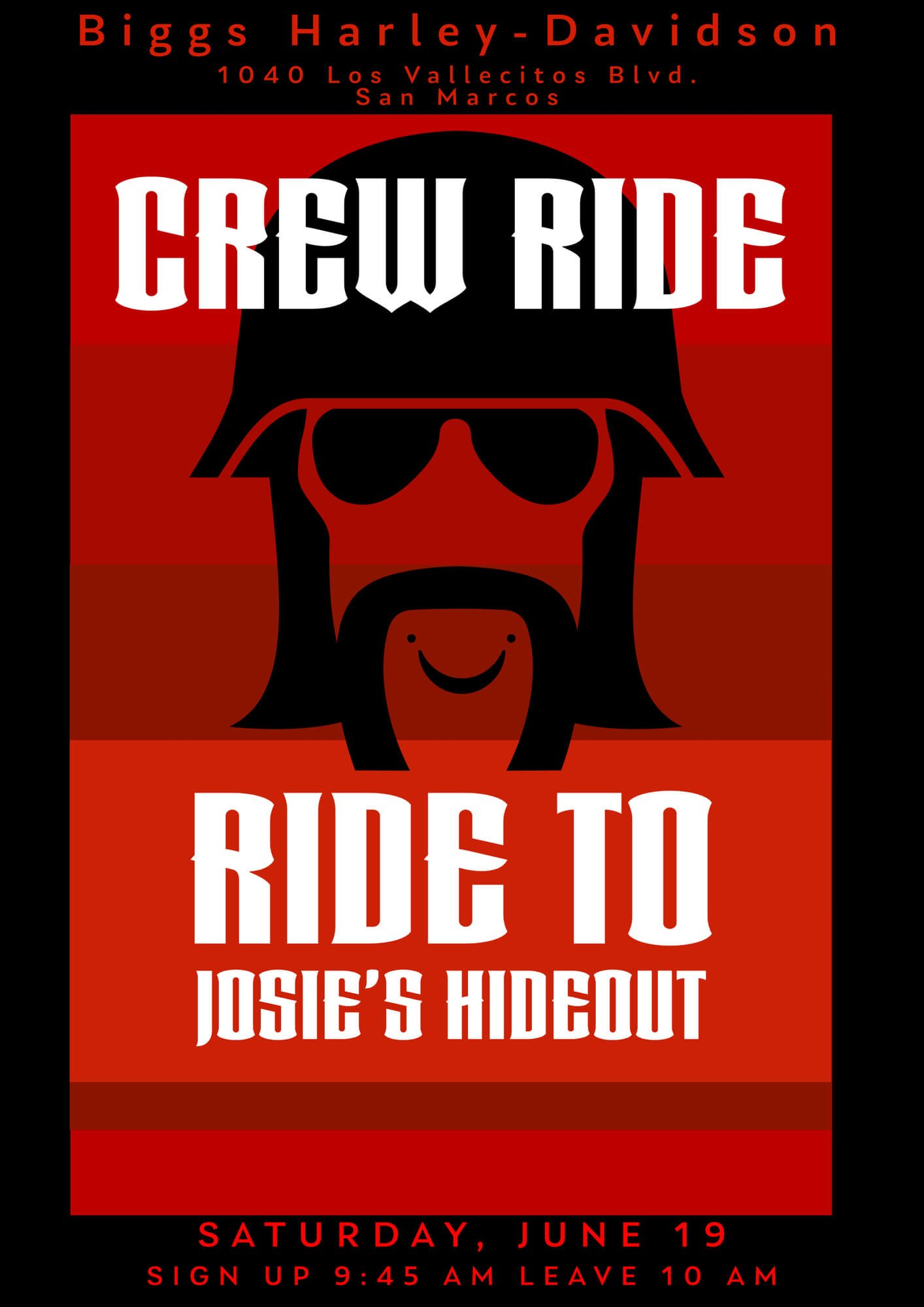 Crew Ride To Josie's Hideout With Biggs Harley