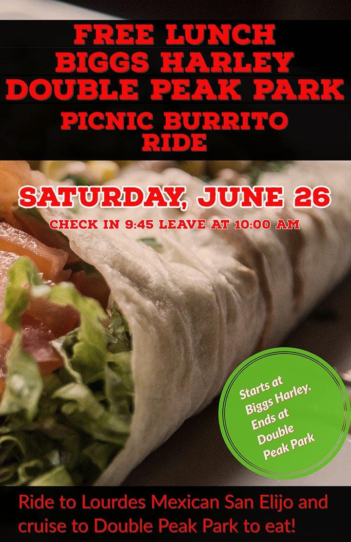 Double Peak Park Picnic Burrito Ride