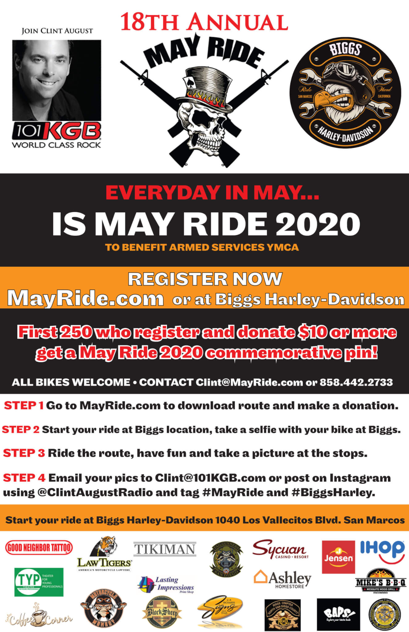 18th Annual May Ride 2020…EVERYDAY IN MAY!!!